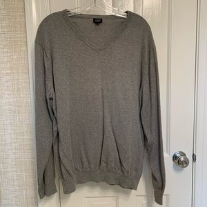J. Crew Gray Sweater V Neck